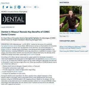 cosmetic dentist in springfield,dental crowns,cerec,dental crowns made in a lab,dental implants